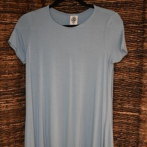 light blue swing tunic